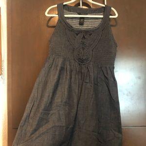 Sleeveless scoop neck jean dress